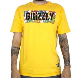 Camiseta Grizzly Fungi Box Gold GMB2001P17
