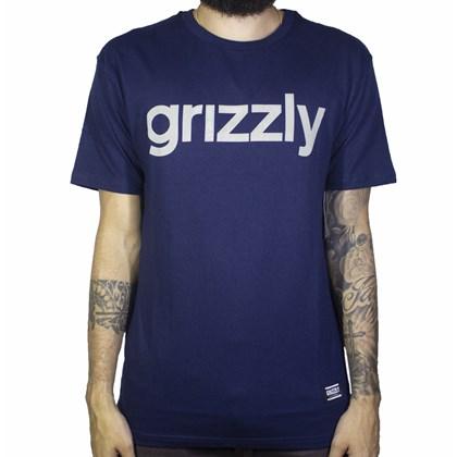 Camiseta Grizzly Lowercase Azul