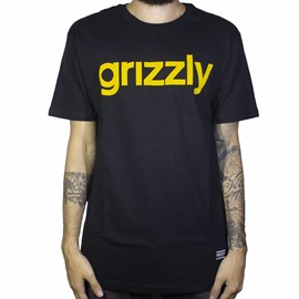 Camiseta Grizzly Lowercase Preta