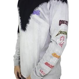 Camiseta Grizzly Metalhead Tie Dye Long Sleeve GMD1902P02BR Black