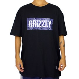 Camiseta Grizzly Paisley Stamp Black GMD2001P34