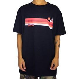 Camiseta Grizzly Retro Stripes Black GMD2001P22