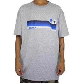 Camiseta Grizzly Retro Stripes Grey GMD2001P22