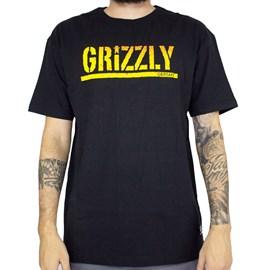 Camiseta Grizzly Stamp Fadeway Black GMA2001P15