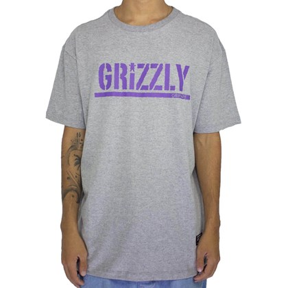 Camiseta Grizzly Stamped Grey GMA1901P14