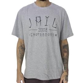 Camiseta Jail Skateboard 2003 Cinza