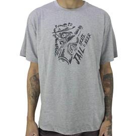 Camiseta Jail Skateboard Skate Beer Cinza