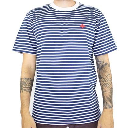 Camiseta Lrg Box Out Azul Branco