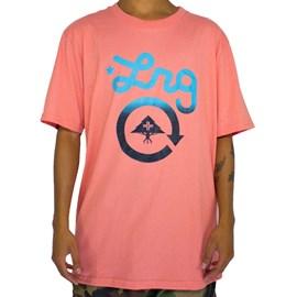 Camiseta Lrg Cycle Logo Rosa