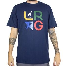 Camiseta Lrg Stacked Azul Marinho