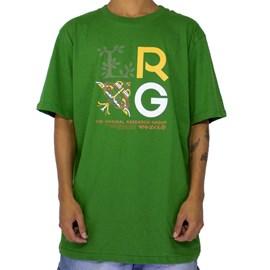 Camiseta Lrg Stacked Green