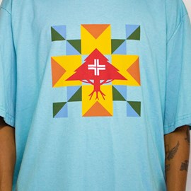 Camiseta Lrg Tree Rituals Azul Claro