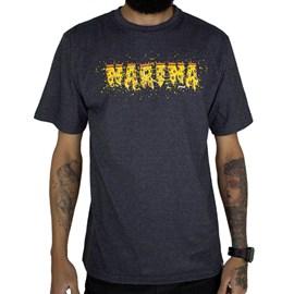 Camiseta Narina Escrita Pizza Chumbo