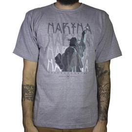Camiseta Narina Estatua Rolinho Cinza