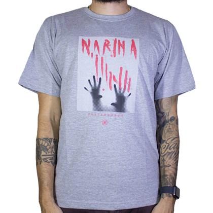 Camiseta Narina Glass Cinza