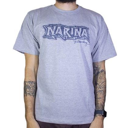 Camiseta Narina Linhas Cinza