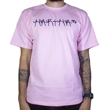 Camiseta Narina Pixação Rosa
