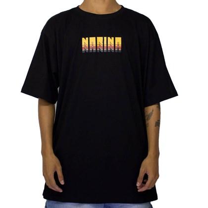 Camiseta Narina Retro Preto