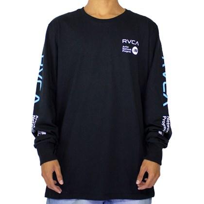 Camiseta Rvca Anp Manga Longa Preto