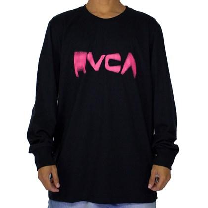 Camiseta Rvca Blurs Manga Longa Preto