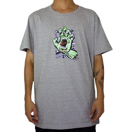 Camiseta Santa Cruz Flier Hand Cinza