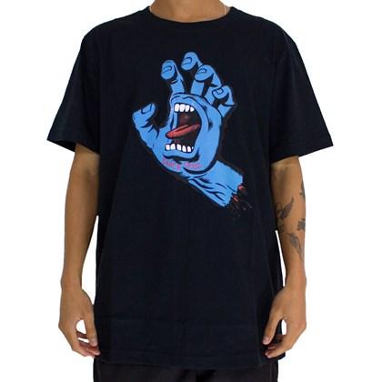 Camiseta Santa Cruz Screaming Hand Front Preto
