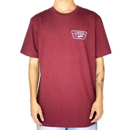 Camiseta Vans Full Patch Back Vinho VN0A3H5KZBSS