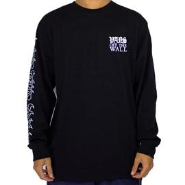 Camiseta Vans Griffin Manga Longa Black