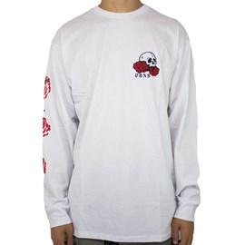 Camiseta Vans Long Sleeve Rose Bed White VN0A54DMWHT