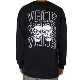 Camiseta Vans New Varsity Manga Longa Black
