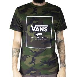 Camiseta Vans Print Box Camo White VN0A312SC9H