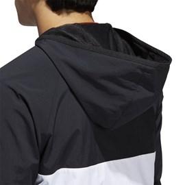 Jaqueta Adidas Corta Vento Dekum Preta Branca
