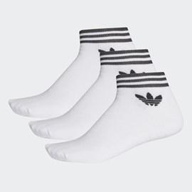 Meia Adidas Trf Ankle Stripes 3pp Branca
