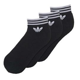 Meia Adidas Trf Ankle Stripes Preta Tamanho 35 a 38