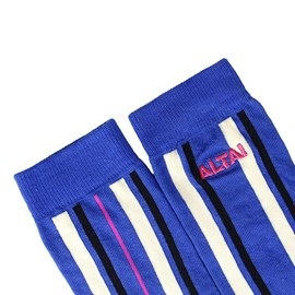Meia Altai Company Listras Azul Royal