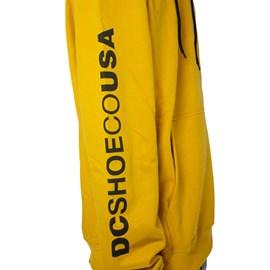 Moletom dc Shoes Canguru Doxford Amarelo Preto