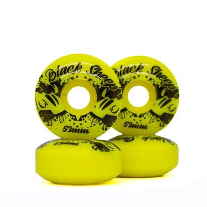Roda Skate Black Sheep Basica Color 53mm Amarelo