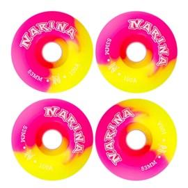Roda Skate Narina Tie Dye 53mm Pink Amarelo