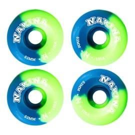 Roda Skate Narina Tie Dye 54mm Azul Verde
