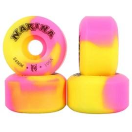 Roda Skate Narina Tie Dye 54mm Pink Amarelo