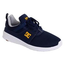 Tênis Dc Shoes Heathrow Navy Gold Adys700071