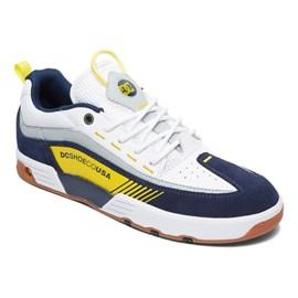 Tenis Dc Shoes Legacy 98 Slim White Yellow Blue