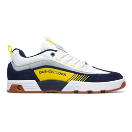 Tenis Dc Shoes Legacy 98 Slim White Yellow Blue
