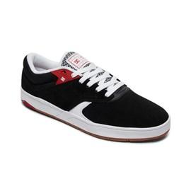 Tenis Dc Shoes Tiago S Imp Black/white/red