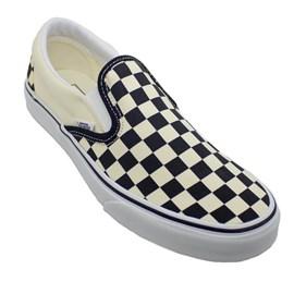 Tênis Vans Classic Slip On Checkerboard Black White VN000EYEBWW