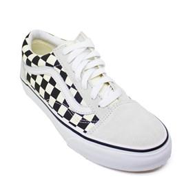 Tênis Vans Old Skool Checkerboard White Black VNBA38G127K