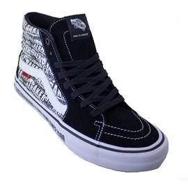 Tênis Vans Sk8 Hi Pro Baker Black White Vn0a45jdv0b