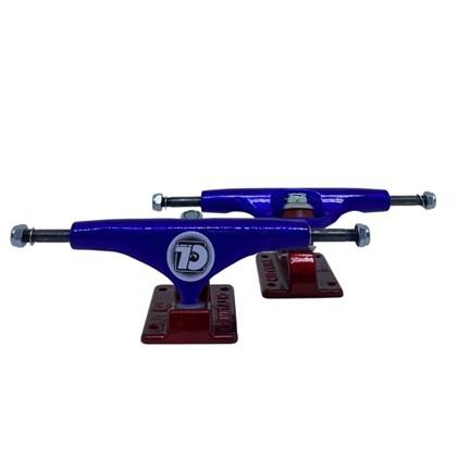 Truck Skate City Line Azul B Vermelho 139mm