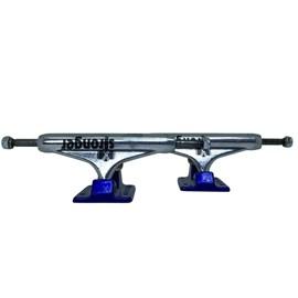 Truck Stronger 139mm Vazado Cinza Base Azul